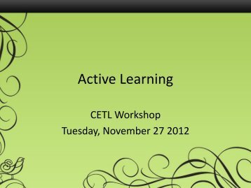 Active Learning powerpoint