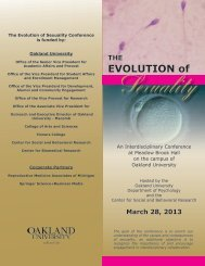 EVOLUTION of - Oakland University