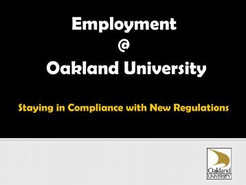 or Employee? - Oakland University