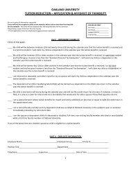 oakland university tuition reduction – application & affidavit of taxability