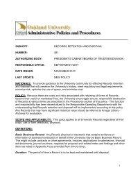Appendix A - Oakland University