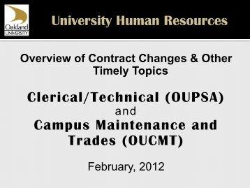 OUPSA - Oakland University