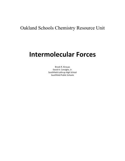 Bonding: Intermolecular Forces - haspi
