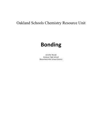 Bonding Unit - Oakland Schools