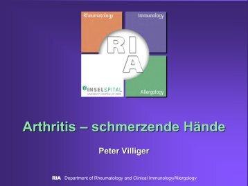 Arthritis – schmerzende Hände - Apobern.ch