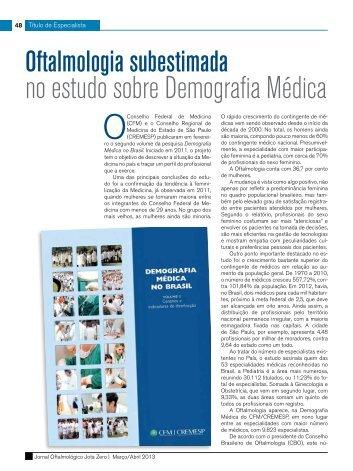 no estudo sobre Demografia Médica - Conselho Brasileiro de ...