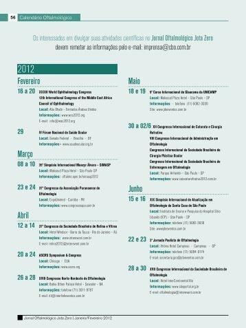 Fevereiro Março Abril Maio Junho - Conselho Brasileiro de ...