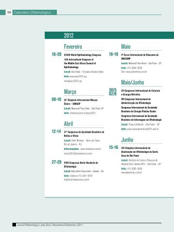 Maio Maio/Junho Junho 2012 Fevereiro Março Abril - Conselho ...