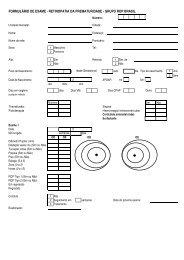 formulário de exame - retinopatia da prematuridade - grupo rop brasil