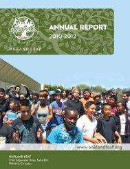 Annual Report 2010-2012 - Oakland Leaf