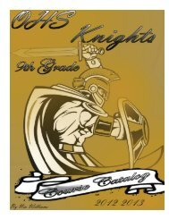 2012-2013 Oakleaf High School Course Catalog 9th Grade