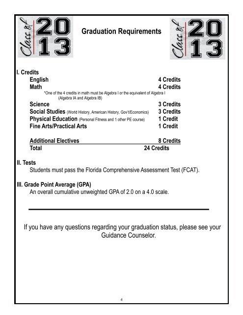 Graduation Requirements I
