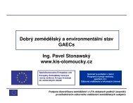 Dobrý zemědělský a environmentální stav GAECs Ing. Pavel ...