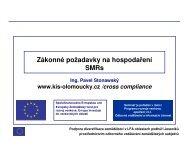 Zákonné požadavky na hospodaření SMRs