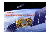 Galileo : : Vesmírné služby pro Evropu