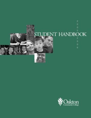 STUDENT HANDBOOK - Oakton Community College