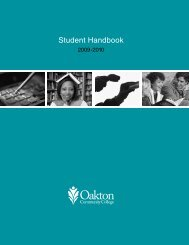 View the student handbook - Oakton Community College