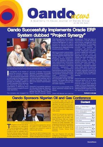 Oando news - Oando PLC