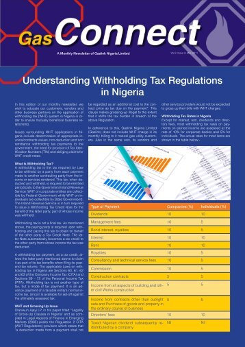 Understanding Withholding Tax Regulations in Nigeria - Oando PLC