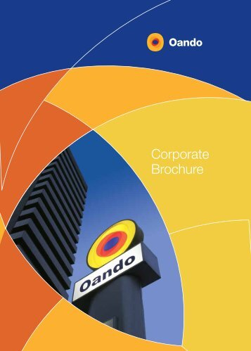 Group Corporate Brochure - Oando PLC
