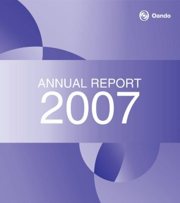2007 Annual Report - Oando PLC