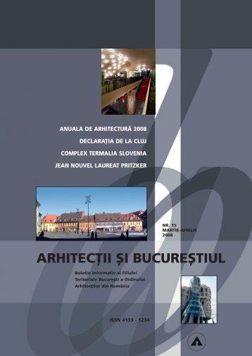 arhitec}ii {i bucure{tiul - Ordinul Arhitectilor din Romania Filiala Sibiu ...