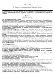 REGULAMENT de organizare şi funcţionare a ... - OAR Bucuresti