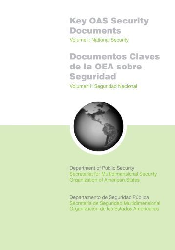 Documentos Claves de la OEA sobre Seguridad - OAS