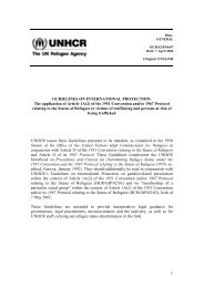 UNHCR Guidelines on International Protection