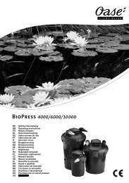 BioPress 4000/6000/10000 - Oase Teichbau