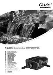 AquaMax Eco Premium 6000/12000/12V - Oase Teichbau