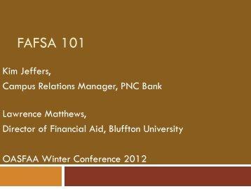 FAFSA 101 - oasfaa