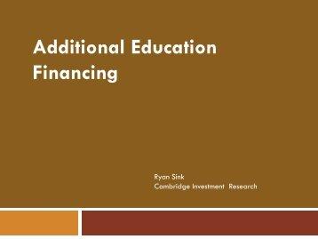 Additional Education Financing - oasfaa