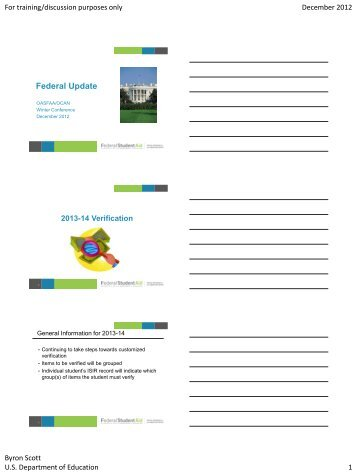 Federal Update - oasfaa
