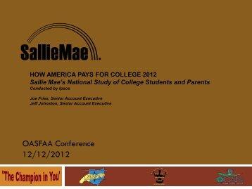OASFAA Conference 12/12/2012