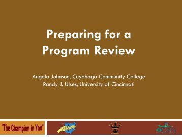 Preparing for a Program Review - oasfaa