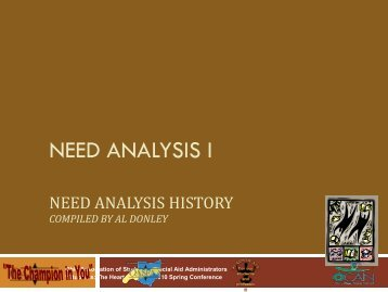 NEED ANALYSIS I - oasfaa