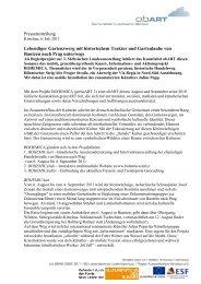 Pressemitteilung Lebendiger Gartenzwerg mit historischem ... - obART