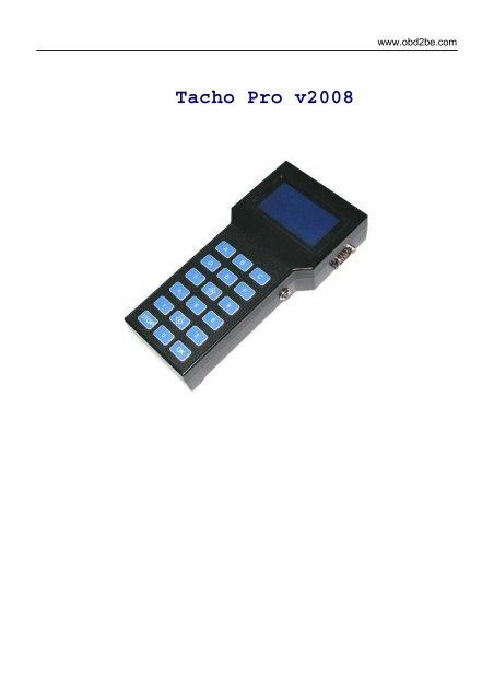 Tacho Pro v2008 - Obd2be com