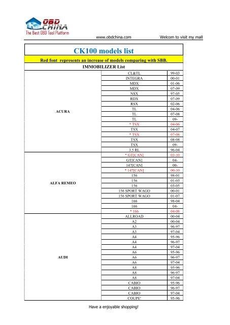 98-04 ACCORD 99-04 ODYSSEY Fits: 01-03 CL 99-03 TL