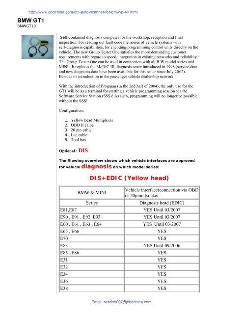 BMW GT1 Introduction pdf (1M) - OBD China