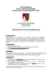 Informationen rund um die Bewerbung - Landkreis Oberallgäu