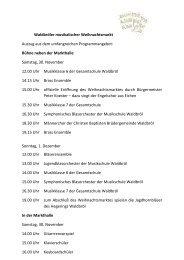 Waldbröler musikalischer Weihnachtsmarkt - Oberberg-Aktuell
