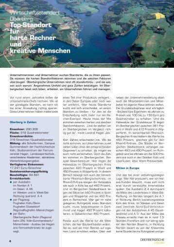 Ausgabe 1/2006 - Oberbergische Impulse