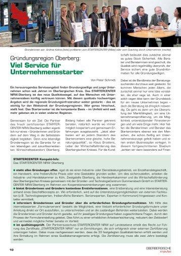 Lesen Sie dazu den Beitrag in Heft 3 / 2009 - Oberbergische Impulse