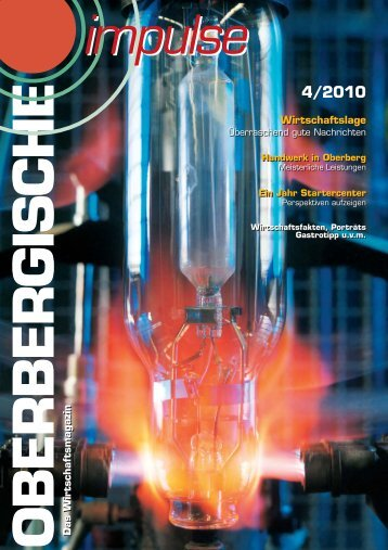 Oberbergische Impulse IV / 2010 - und TechnologieCentrum ...