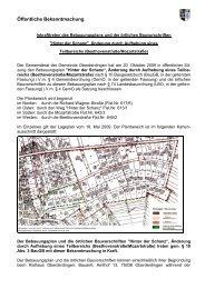 Inkrafttreten des Bebauungsplans und der örtlichen ... - Oberderdingen