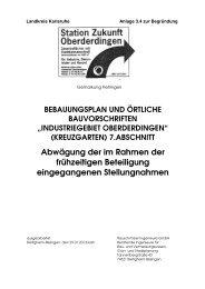 Abwägung der frühzeitigen Stellungnahmen - Oberderdingen