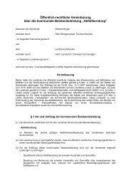 Öffentlich-rechtliche Vereinbarung - Oberderdingen