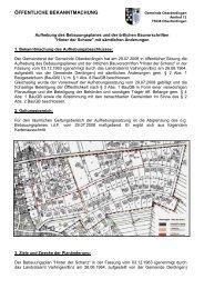 ÖFFENTLICHE BEKANNTMACHUNG Gemeinde Oberderdingen